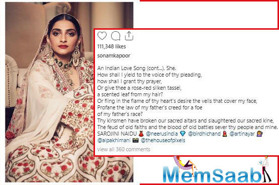 Sonam Kapoor weaves magic as she goes all-traditional in her enchanting ethnic wear