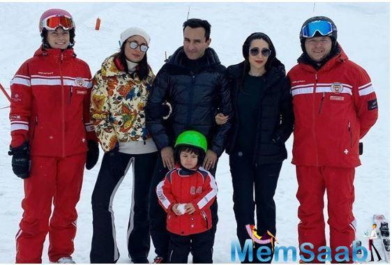 Saif Ali Khan looks super excited to be out in the snow! Kapoor-Khan family vacations are always about fun and spending quality time together. And the pictures that go viral on the internet make us want to go on a vacation too!