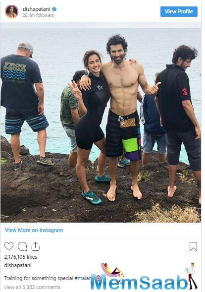Disha Patani and Aditya Roy Kapur shoot an underwater kissing sequence for Malang