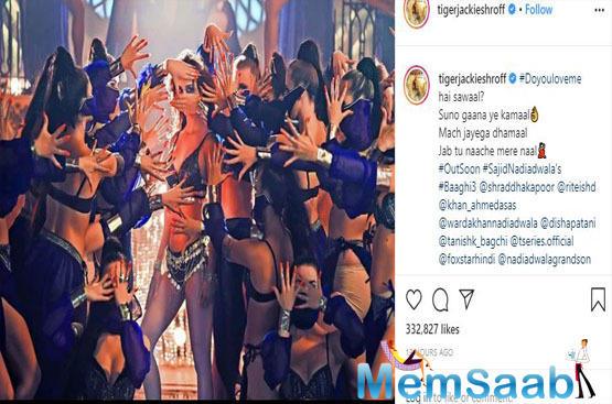 Take a look: Tiger Shroff shares a mesmerising glimpse of Disha Patani from 'Baaghi 3'