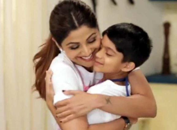 Shilpa Shetty teaches her son Viaan tie and dye skill during isolation