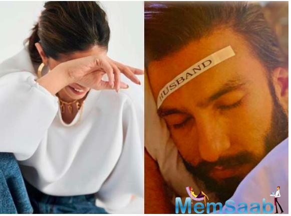 As Ranveer Singh enjoys his sleep, this is what Deepika Padukone does and it's hilarious!