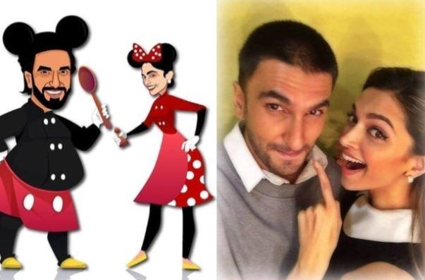 Ranveer and Deepika recently channeled their inner Mickey and Minnie Mouse in a recent post