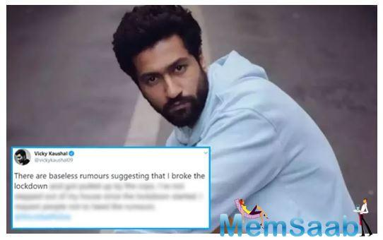 Vicky Kaushal slams rumors of violating lockdown rules and getting arrested by cops