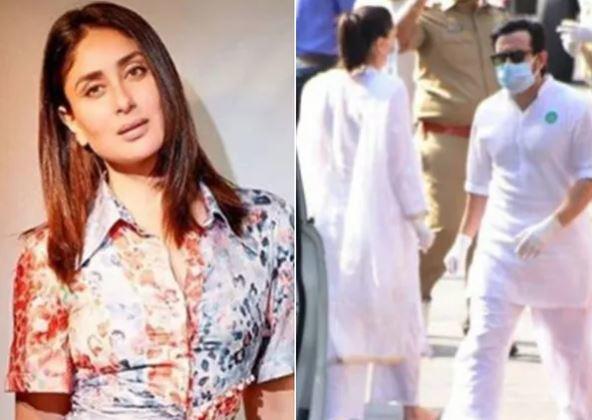 Kareena Kapoor was seen wearing a mask as she headed to meet Ranbir Kapoor, Neetu Kapoor and Riddhima Kapoor Sahni