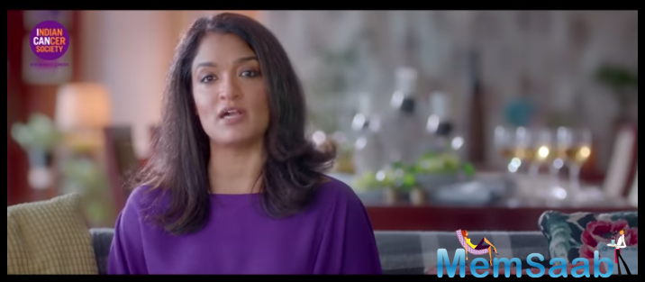 Sandhya Mridul in collaboration with Cancer Society to mobilise awareness on cancer, has done a video