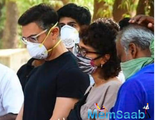 Aamir Khan and Kiran Rao attend the last rites of his assistant Amos, See Photos