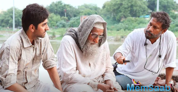 Khurrana took to Instagram to post a still from the film in which two stars are seen sitting with each other.