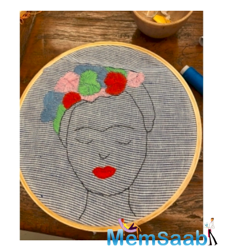 While she picked up these skills at her grandmother's place as a child, Twinkle took to Instagram to post a video capturing how she tried her hand at embroidery after almost 20 years.