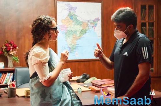 Kangana Ranaut back on the sets of Thalaivi, see the pictures