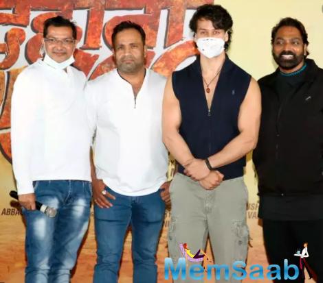 Tiger Shroff attends Ganesh Acharya's film's Mahurat and poster launch
