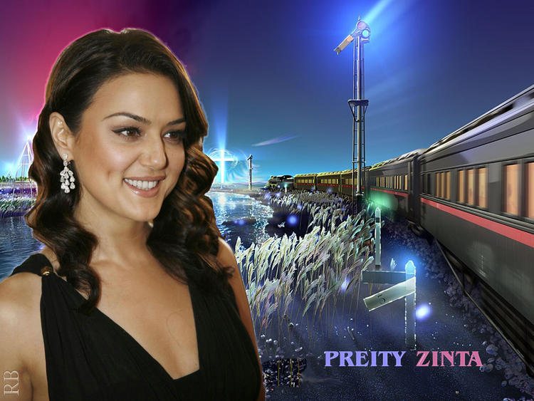Bubbly Actress Preity Zinta Wallpaper
