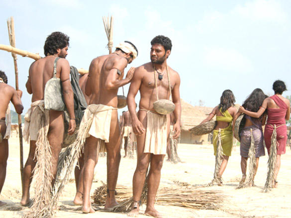 Half naked men from the movie - Shudra - The Rising