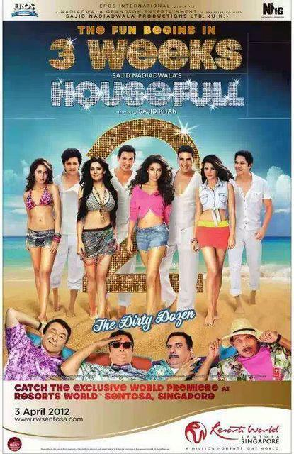 Housefull 2 New Comedy Hindi Movie Poster Housefull 2 New Comedy