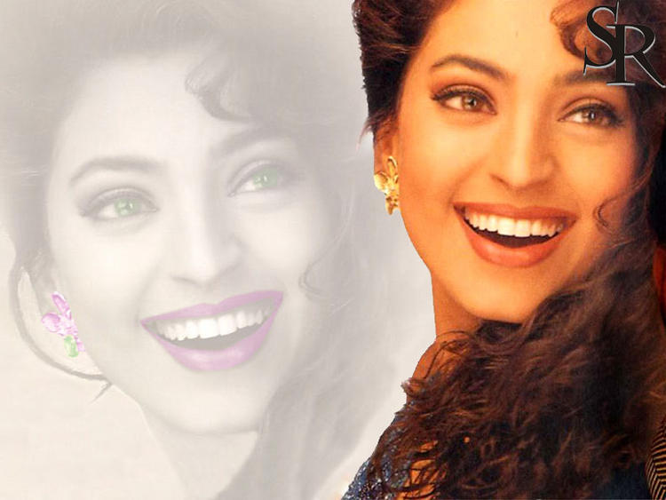 Juhi Chawla Gorgeous Smile Wallpaper