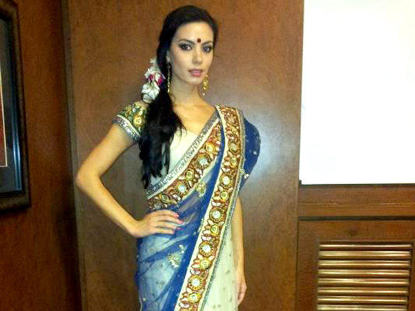 Mia Uyeda Looking So Beautiful In Saree