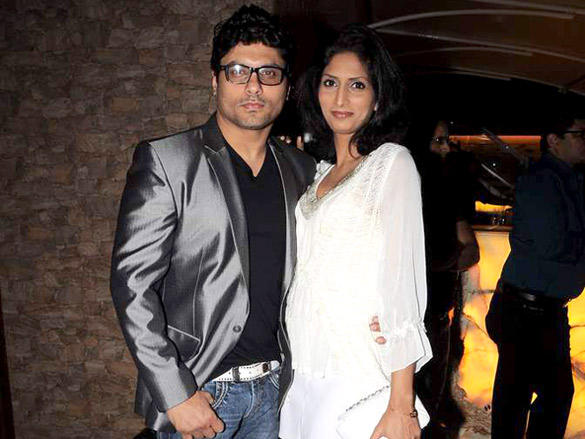 Riyaz Gangji with wife during Veena Malik's surprise birthday bash