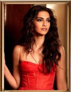 Sonam Kapoor Sizzling Sexy Photo With Curly Hair Pic