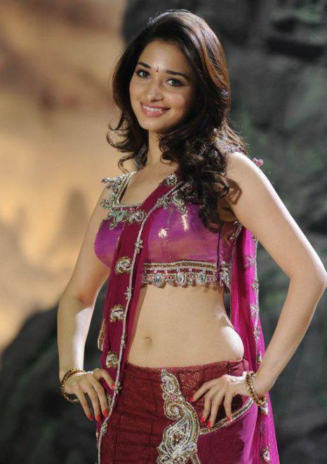 Tamanna Sexy Belly Exposing Pic