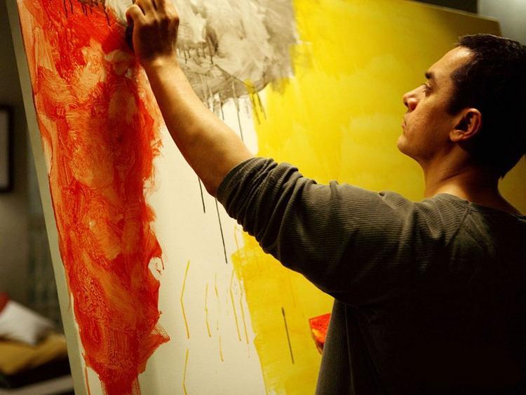 Aamir Khan painting in Dhobi Ghat