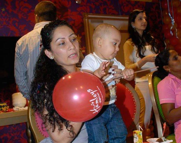 Shahraan with Balloon